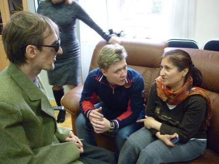 Роза Баранова  с чемпионкой мира по пауэрлифтингу слабовидящей Евгенией Цахиловой в проекте социализации.rar